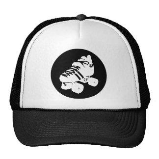 Diseño blanco y negro del patín de derby del rodil gorras de camionero
