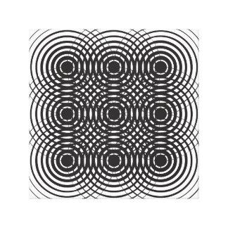 diseño blanco y negro geométrico abstracto lienzo envuelto para galerías