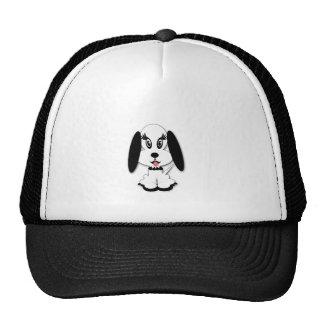 diseño blanco y negro lindo del perro de s gorras
