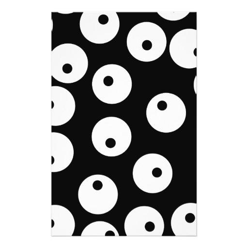 """Diseño blanco y negro retro del círculo folleto 5.5"""" x 8.5"""""""