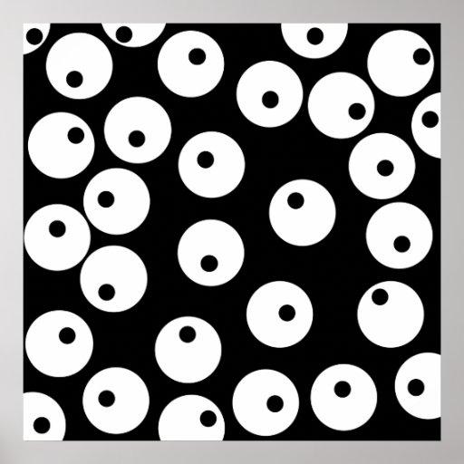 Diseño blanco y negro retro del círculo póster