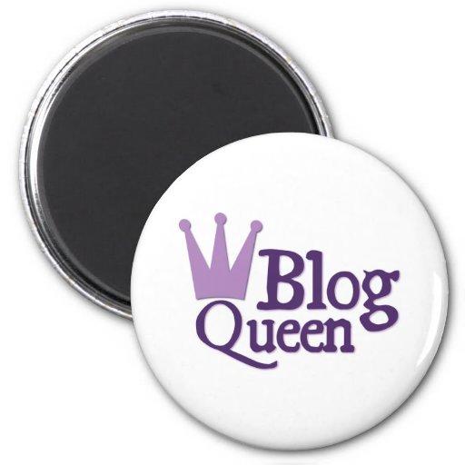 Diseño Blogging púrpura Imán Redondo 5 Cm