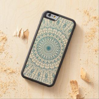 Diseño bohemio del fractal del cielo y de las funda de iPhone 6 bumper arce