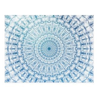 Diseño bohemio del fractal del cielo y de las postales