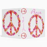 Diseño bonito de la carpeta del signo de la paz de