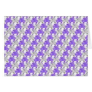 Diseño bonito de la raya de la púrpura y de la ped tarjeta de felicitación