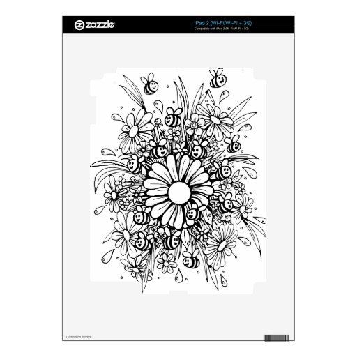 Diseño bonito de las abejas calcomanía para el iPad 2
