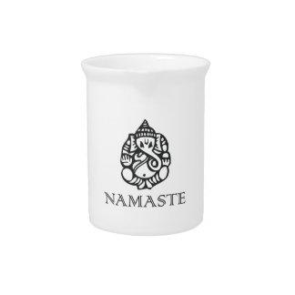 Diseño bonito de Namaste Ganesh Jarrones