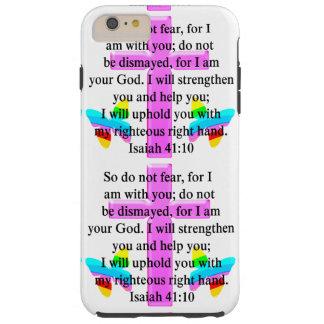 DISEÑO BONITO DEL 41:10 DE ISAÍAS DE LA ESCRITURA FUNDA DE iPhone 6 PLUS TOUGH