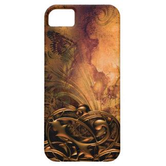 Diseño bonito del arte del Grunge de la mariposa Funda Para iPhone 5 Barely There