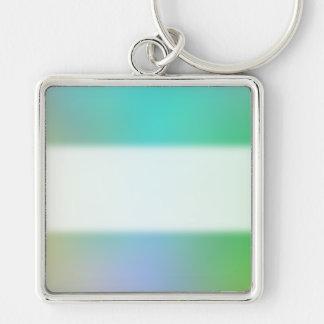 Diseño bonito del multicolor llavero cuadrado plateado