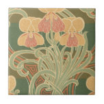 diseño bonito del nouveau del arte de las flores d azulejos
