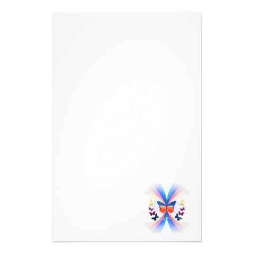 diseño bonito del remolino de las mariposas del papeleria personalizada
