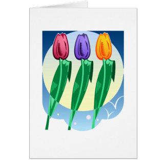 Diseño bonito el cultivar un huerto de flores tarjetón