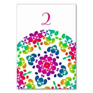 Diseño bonito modelado floral del arco iris