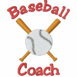 Diseño bordado entrenador de béisbol chaquetas bordadas
