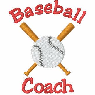 Diseño bordado entrenador de béisbol chaqueta
