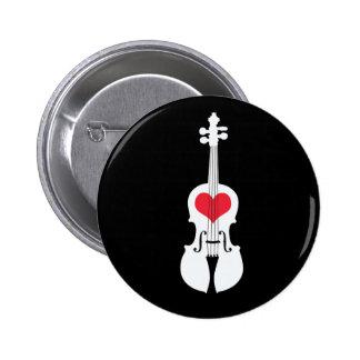 Diseño Botón-Clásico del regalo del violín Pin Redondo De 2 Pulgadas