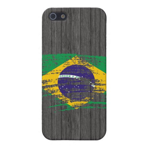 Diseño brasileño fresco de la bandera iPhone 5 carcasa