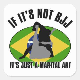 diseño brasileño-jiu-jitsu pegatina cuadradas personalizadas