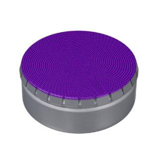 Diseño brillante de la MOD de la púrpura Latas De Dulces