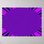 Diseño brillante de la MOD de la púrpura Poster