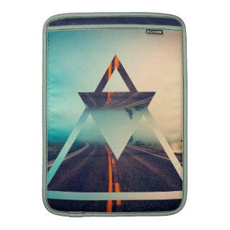 Diseño brillante de la pirámide del fondo de la funda para macbook air