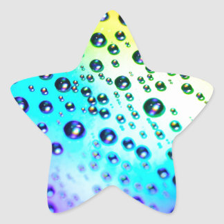 diseño brillante de las burbujas de las gotas de pegatina en forma de estrella