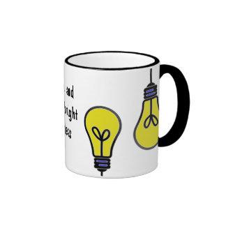 Diseño brillante de las ideas de la bombilla tazas de café