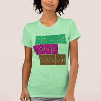Diseño brillante de los colores del tocino del camisetas