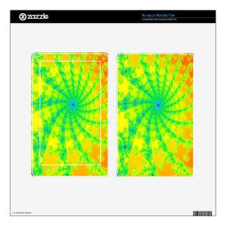 Diseño brillante de lujo del fractal kindle fire pegatinas skins
