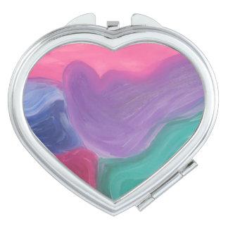 Diseño brillante del arco iris del espejo de la espejos para el bolso
