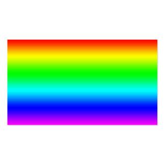 Diseño brillante del arco iris tarjetas de visita