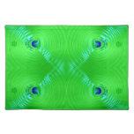 diseño brillante del fractal de la turquesa de la  mantel