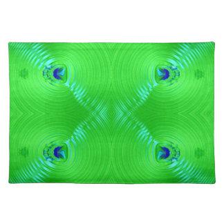 diseño brillante del fractal de la turquesa de la  manteles