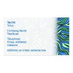 Diseño brillante del tema del océano tarjetas de visita