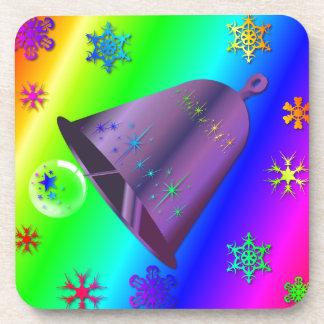 Diseño brillante, festivo del navidad de Bell del Posavasos De Bebidas