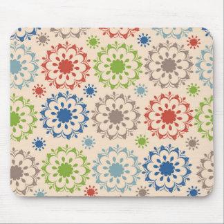 Diseño brillantemente coloreado del medallón tapete de raton