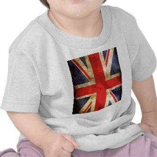 Diseño británico de la bandera camiseta