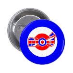 Diseño británico de la vespa de la MOD Pins