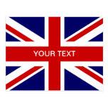 Diseño británico de las postales el   Union Jack