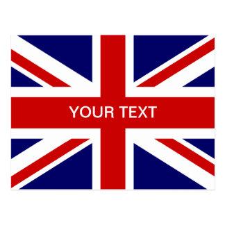 Diseño británico de las postales el | Union Jack