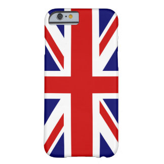 Diseño británico del caso el   Union Jack del Funda Barely There iPhone 6
