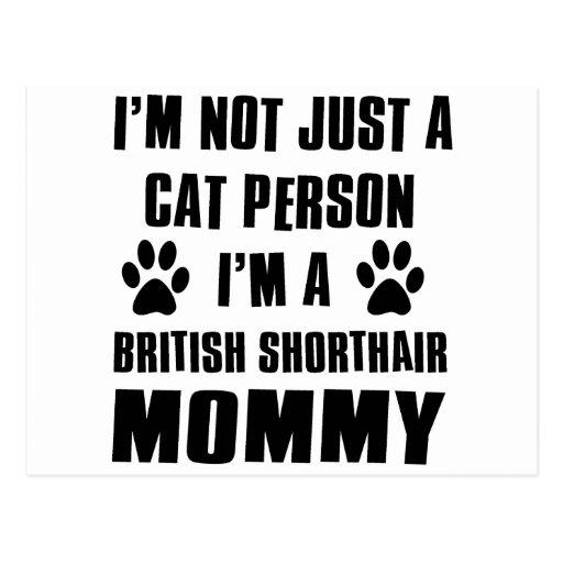 Diseño británico del gato del camisetas de Shortha Postales