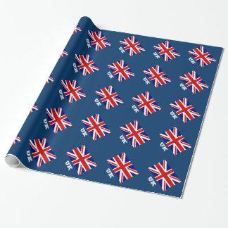 Diseño británico del papel de embalaje de la