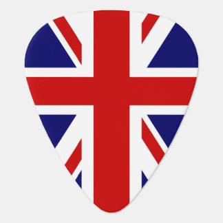 Diseño británico del Union Jack de la púa de guita Plectro