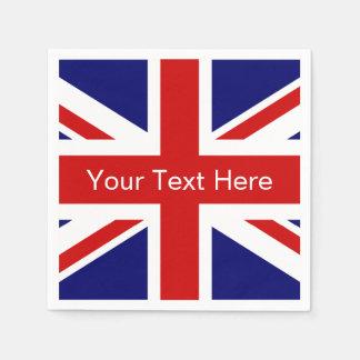 Diseño británico del Union Jack de las servilletas Servilleta De Papel
