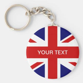 Diseño británico del Union Jack del llavero el  