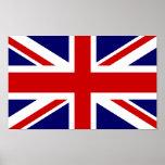 Diseño británico del Union Jack del poster el | de Póster