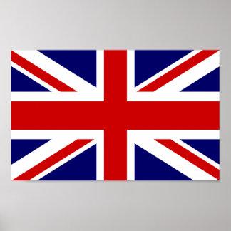 Diseño británico del Union Jack del poster el   de Póster